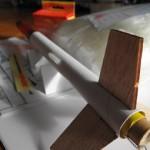 Zusammengebaute Modell-Rakete