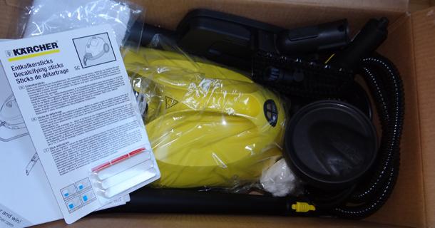 Kärcher Dampfreiniger eingepackt