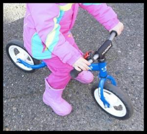 Hudora Laufrad fahren